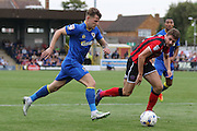 AFC Wimbledon midfielder Jake Reeves (8) in action during the EFL Sky Bet League 1 match between AFC Wimbledon and Shrewsbury Town at the Cherry Red Records Stadium, Kingston, England on 24 September 2016. Photo by Stuart Butcher.