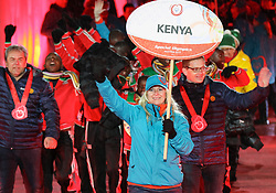 18.03.2017, Planai-Stadion, Schladming, AUT, Special Olympics 2017, Wintergames, Eröffnungsfeier, im Bild der Einmarsch der Delegation aus Kenia // the delegation of Kenya during the opening ceremony in the Planai Stadium at the Special Olympics World Winter Games Austria 2017 in Schladming, Austria on 2017/03/17. EXPA Pictures © 2017, PhotoCredit: EXPA / Martin Huber