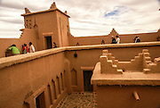 Mud houses in the Kasbah Ait Ben Moro, Morocco Now a renovated hotel