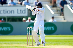 Alex Hughes of Derbyshire watches a short ball onto the bat - Mandatory by-line: Robbie Stephenson/JMP - 20/04/2018 - CRICKET - The 3aaa County Ground  - Derby, England - Derbyshire CCC v Middlesex CCC - Specsavers County Championship Division Two