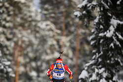 March 9, 2019 - –Stersund, Sweden - 190309 Simon Eder of Austria competes in the Men's 10 KM sprint during the IBU World Championships Biathlon on March 9, 2019 in Östersund..Photo: Petter Arvidson / BILDBYRÃ…N / kod PA / 92252 (Credit Image: © Petter Arvidson/Bildbyran via ZUMA Press)
