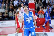 DESCRIZIONE : Pesaro Lega A 2011-12 Scavolini Siviglia Pesaro Banco Di Sardegna Sassari<br /> GIOCATORE : Drake Diener<br /> CATEGORIA : esultanza scelta<br /> SQUADRA : Banco Di Sardegna Sassari<br /> EVENTO : Campionato Lega A 2011-2012<br /> GARA : Scavolini Siviglia Pesaro Banco Di Sardegna Sassari<br /> DATA : 22/04/2012<br /> SPORT : Pallacanestro<br /> AUTORE : Agenzia Ciamillo-Castoria/C.De Massis<br /> Galleria : Lega Basket A 2011-2012<br /> Fotonotizia : Pesaro Lega A 2011-12 Scavolini Siviglia Pesaro Banco Di Sardegna Sassari<br /> Predefinita :