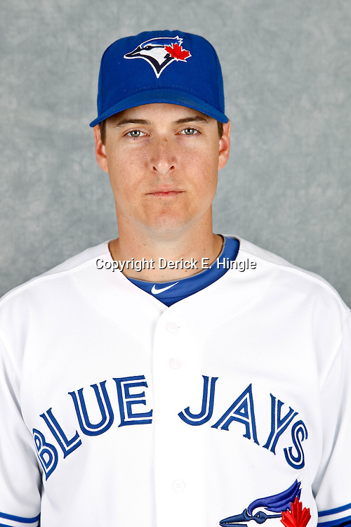 March 2, 2012; Dunedin, FL, USA; Toronto Blue Jays second baseman Kelly Johnson (2) poses for a portrait during photo day at Florida Auto Exchange Stadium.  Mandatory Credit: Derick E. Hingle-US PRESSWIRE
