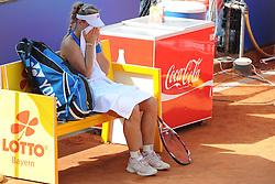 22.05.2014, Tennisanlage 1.FC Nuernberg, GER, WTA Tour, Nuernberger Versicherungscup, Viertelvinale, im Bild Sie wirkt ratlos nach verlorenem ersten Satz Angelique KERBER (GER) // during the quarterfinals of Nuernberg WTA tournament at the 1.FC Nuernberg tennis facility in Nuernberg, Germany on 2014/05/22. EXPA Pictures © 2014, PhotoCredit: EXPA/ Eibner-Pressefoto/ Schreyer<br /> <br /> *****ATTENTION - OUT of GER*****