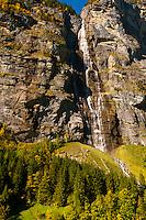 Murrenbachfalls, near Stechelberg, Swiss Alps, Canton Bern, Switzerland