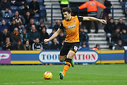 Hull City Defender Harry McGuire during the Sky Bet Championship match between Preston North End and Hull City at Deepdale, Preston, England on 28 December 2015. Photo by Pete Burns.