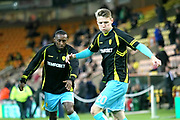 Burton Albion's Joe Mason warms up during the EFL Sky Bet Championship match between Norwich City and Burton Albion at Carrow Road, Norwich, England on 12 September 2017. Photo by John Potts.