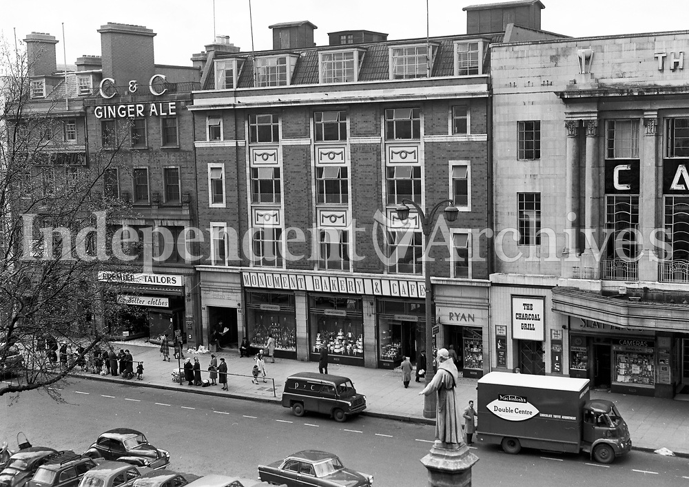 The Monument Bakery and Cafe, O'Connell Street, Dublin 1964. (Part of the Independent Newspapers/NLI Collection)