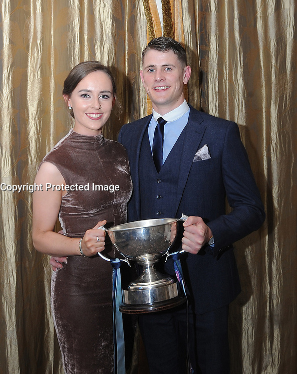 A time to celebrate<br />Laura Keane and Brian McDermott Westport Captain at the team's All Ireland celebration banquet.