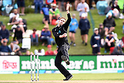 Lockie Ferguson of the Black Caps during the ANZ One Day International match between the Black Caps and Bangladesh, played at the University Oval, Dunedin, New Zealand, on February 20, 2019. Copyright Image: Joe Allison / www.Photosport.nz