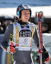 18.12.2016, Grand Risa, La Villa, ITA, FIS Ski Weltcup, Alta Badia, Riesenslalom, Herren, Siegerpräsentation, im Bild Florian Eisath (ITA, 3. Platz) // third placed Florian Eisath of Italy during the winner presentation for the men's Giant Slalom of FIS ski alpine world cup at the Grand Risa race Course in La Villa, Italy on 2016/12/18. EXPA Pictures © 2016, PhotoCredit: EXPA/ Johann Groder