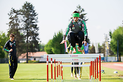 Robert Kranjec during fitness training of Slovenian Ski jumping National A team, on May 6, 2016, in Stadium Kranj, Slovenia.Photo by Vid Ponikvar / Sportida