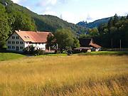 Bauernhof im Naturpark obere Donau im Donautal, Baden-Württemberg, Deutschland.|.farm, nature park upper Danube, Baden-Wuerttemberg, Germany