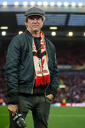 14.04.2016, Anfield Road, Liverpool, ENG, UEFA EL, FC Liverpool vs Borussia Dortmund, Viertelfinale, Rueckspiel, im Bild Campino (buergerlich Andreas Frege, Saenger von die Toten Hosen) // during the UEFA Europa League Quaterfinal, 2nd Leg match between FC Liverpool vs Borussia Dortmund at the Anfield Road in Liverpool, Great Britain on 2016/04/14. EXPA Pictures &copy; 2016, PhotoCredit: EXPA/ Eibner-Pressefoto/ Schueler<br /> <br /> *****ATTENTION - OUT of GER*****