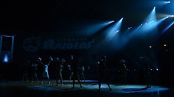 Pre match show. - Photo mandatory by-line: Alex James/JMP - 25/02/2018 - BASKETBALL - Plymouth Pavilions - Plymouth, England - Plymouth Raiders v Bristol Flyers - British Basketball League