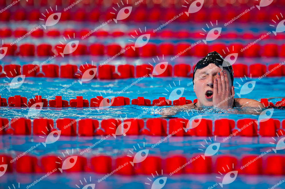 Katie Ledecky USA gold medal and new world record<br /> Women's 800m freestyle final<br /> 15th FINA World Aquatics Championships<br /> Palau Sant Jordi, Barcelona (Spain) 03/08/2013 <br /> &copy; Giorgio Perottino / Deepbluemedia.eu / Insidefoto