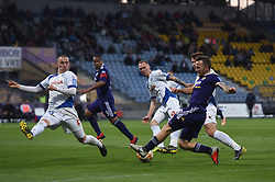 Dino Hotić of Maribor and Žan Zaletel of Celje in action during football match between NK Maribor and NK Celje in Round #24 of Prva liga Telekom Slovenije 2018/19, on March 30, 2019 in stadium Ljudski vrt, Maribor, Slovenia. Photo by Milos Vujinovic / Sportida
