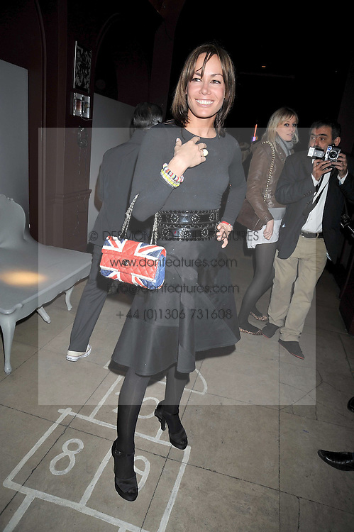 TARA PALMER-TOMKINSON  at a reception to celebrate the launch of Liberatum's Russian Anglo Arts Festival (Anglomockba)  held at Sketch, London on 27th April 2009.