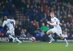 BIRKENHEAD, ENGLAND - Saturday, January 3, 2015: Tranmere Rovers' Max Power in action against Swansea City during the FA Cup 3rd Round match at Prenton Park. (Pic by David Rawcliffe/Propaganda)