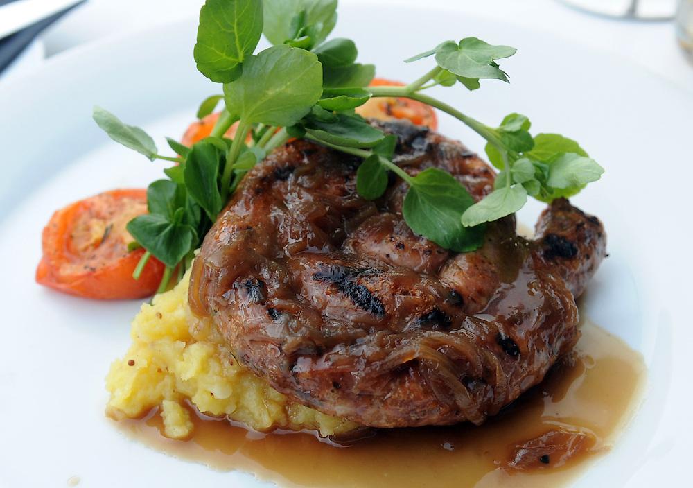 Cumberland sausage and mash, Kawarau Hotel, Queenstown, New Zealand, Friday, February 08, 2013. Credit:SNPA / Ross Setford
