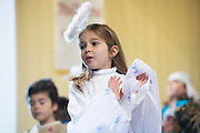 Noelle Byrne performing the Nativity at the Church in Fanore Co. Clare   Photo:Andrew Downes