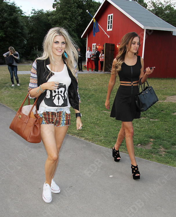 03.JULY.2013. LONDON<br /> <br /> ASHLEY JAMES AND LUCY WATSON ATTEND THE COMPANY MAGAZINE PARTY AT THE REKORDERLIG MIDSUMMER HOUSE, VICTORIA PARK.<br /> <br /> BYLINE: EDBIMAGEARCHIVE.CO.UK<br /> <br /> *THIS IMAGE IS STRICTLY FOR UK NEWSPAPERS AND MAGAZINES ONLY*<br /> *FOR WORLD WIDE SALES AND WEB USE PLEASE CONTACT EDBIMAGEARCHIVE - 0208 954 5968*