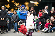 NYBG Holiday Tree Lighting on December 3, 2017 in The Bronx. (Photo by Ben Hider)