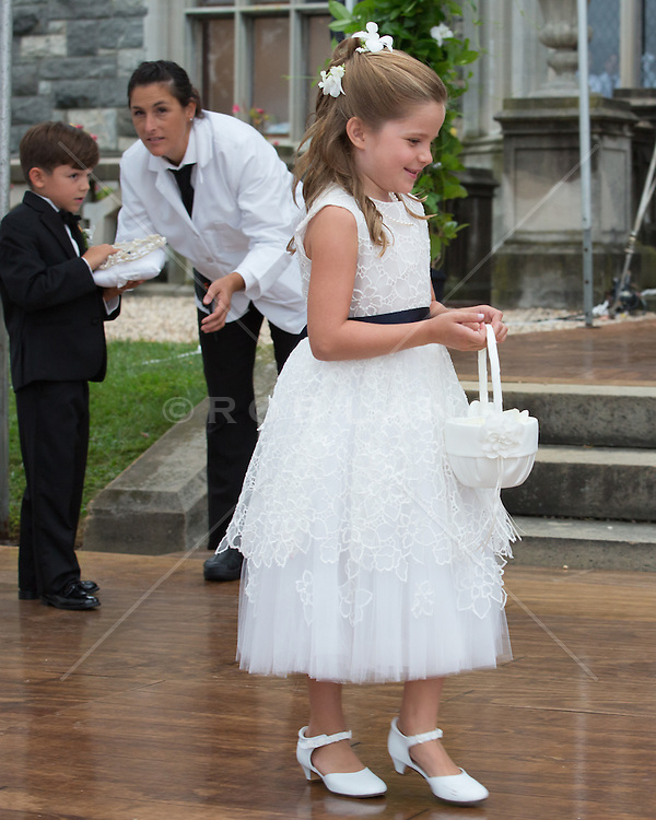 little girl and boy at a wedding