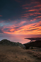 Sunset Over Stinson Beach, Mount Tamalpais State Park, California
