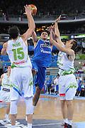 LUBIANA EUROBASKET 2013 12 SETTEMBRE 2013<br /> NAZIONALE ITALIANA MASCHILE<br /> SLOVENIA VS ITALIA<br /> NELLA FOTO: ALESSANDRO GENTILE<br /> FOTO CIAMILLO