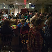 TAKOMA PARK, MD  - JAN 25: The VFW post in Takoma Park, Maryland, is packed with customers for a concert by the New York based band, Sprit Family Reunion, January 25, 2014. VFW Posts are dying all across the country but in the unlikely liberal haven of Takoma Park, the old VFW is showing signs of life. By throwing open the doors to private parties and concerts, the club is breaking even in spite of dwindling membership. Several times a month, the bar dwelling regular vets are sharing space with the bureaucrats, activists and peaceniks from the surrounding neighborhood. (Photo by Evelyn Hockstein/For The Washington Post)