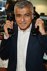 © Licensed to London News Pictures. 11/09/2017. London Mayor SADIQ KHAN<br />  takes part in the on the annual BGC Partners Charity Day in commemoration of its 658 friends and colleagues and 61 Eurobroker employees lost in the World Trade Center attacks on 9/11. PIcture Credit: Tang/LNP