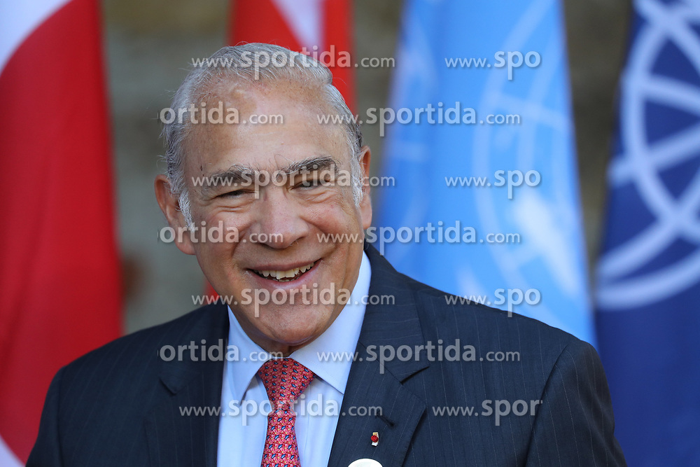 27.05.2017, Taormina, ITA, 43. G7 Gipfel in Taormina, im Bild Jose Angel Gurr&iacute;a, OECD Generalsekkret&auml;r // Ose Angel Gurria, OECD Secretary General during the 43rd G7 summit in Taormina, Italy on 2017/05/27. EXPA Pictures &copy; 2017, PhotoCredit: EXPA/ SM<br /> <br /> *****ATTENTION - OUT of GER*****