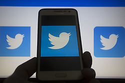 May 5, 2019 - Asuncion, Paraguay - Twitter logo icon is seen on a smartphone display. (Credit Image: © Andre M. Chang/ZUMA Wire)