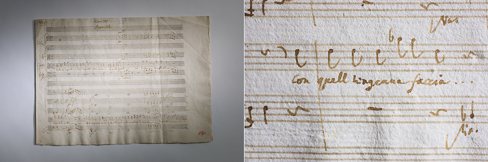 Figaro by Mozart sheet music and detail. Stanford Archives