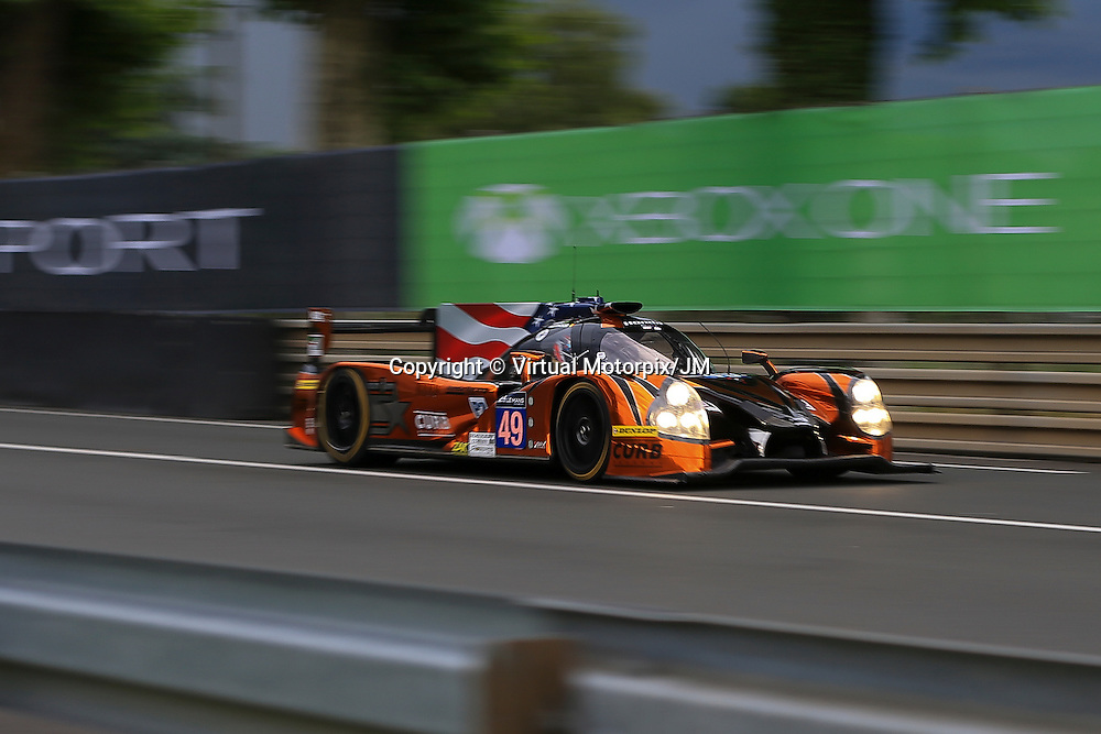 #49, Ligier JS P2 Honda, Michael Shank Racing, driven by John Pew, Ozz Negri Jr, Laurens Vanthoor, 24 Heures Du Mans , 16/06/2016,