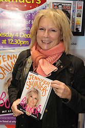 "© Licensed to London News Pictures. 04/12/2013<br /> Jennifer Saunders at W H Smiths,Bluewater in Kent today (04.12.2013) signing her new book  ""My Life In Laughs""<br />  Photo credit :Grant Falvey/LNP"