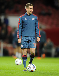 Bayern Munich's Philipp Lahm - Photo mandatory by-line: Joe Meredith/JMP - Tel: Mobile: 07966 386802 19/02/2014 - SPORT - FOOTBALL - London - Emirates Stadium - Arsenal v Bayern Munich - Champions League - Last 16 - First Leg