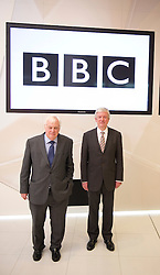 Tony Hall , the new Director General of the BBC  with Lord Patten at Broadcasting House in London, Thursday, 22nd November 2012.  Photo by: i-Images