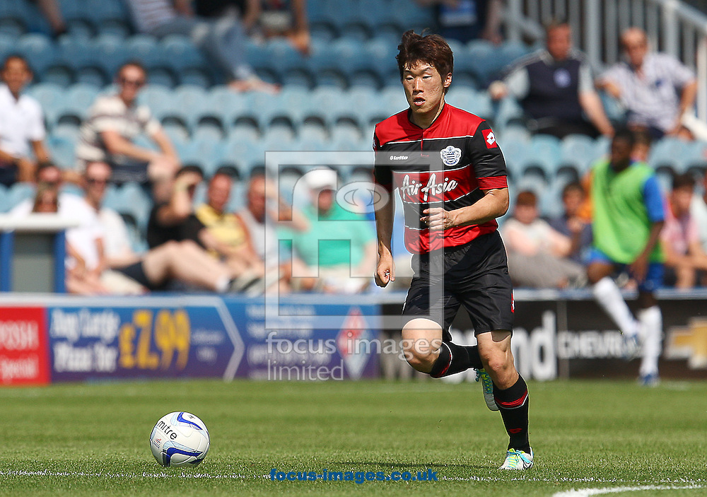 Picture by Rob Fisher/Focus Images Ltd +44 7450 945824<br /> 13/07/2013<br /> Ji-Sung Park of Queens Park Rangers during the pre season friendly match at London Road, Peterborough.
