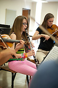 A chamber group practices during a master class while participating in Ohio University's Mozart on the Green Chamber Music Festival and Academy on August 9, 2012 in Athens, Ohio.