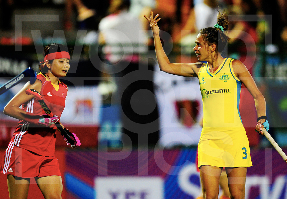 ROSARIO - Hockey World League Semi Final Women<br /> Australia v China.<br /> foto: Brooke Peris.<br /> FFU PRESS AGENCY COPYRIGHT FRANK UIJLENBROEK