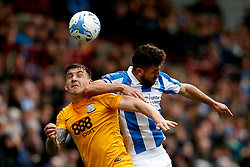 Jordan Hugill of Preston North End challenges Tommy Smith of Huddersfield Town - Mandatory by-line: Matt McNulty/JMP - 14/04/2017 - FOOTBALL - The John Smith's Stadium - Huddersfield, England - Huddersfield Town v Preston North End - Sky Bet Championship