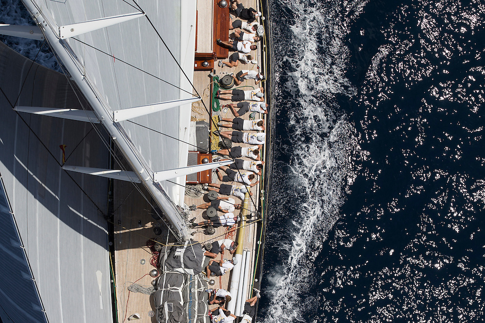 SPAIN, Palma. 21st June 2013. Superyacht Cup. J Class. Race three, coastal race. Hanuman.