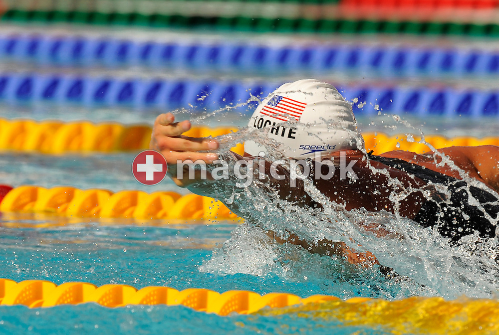 Ryan Lochte of the USA swims on the butterfly leg in the men's 400m individual medley (IM) preliminary at the 13th FINA World Championships at the Foro Italico complex in Rome, Italy, Sunday, Aug. 2, 2009. (Photo by Patrick B. Kraemer / MAGICPBK)