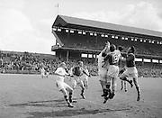 Neg No...598/8145-8149...1954AIJFCF...12. September 1954.12/09/54..All Ireland Junior Football Championship - Home Final..Kerry.3-6.Donegal.1-6 . .
