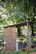 The chicken coop in Cynthia Deis' backyard in downtown Raleigh's Glenwood Brooklyn neighborhood.