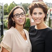 NLD/Amsterdam/20150903 - Talkies Terras Lunch 2015, Kristina Bozilovic en zus Tamara