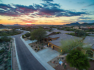 Scottsdale, AZ drone real estate photography at sunset