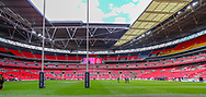 General view inside the stadium before the Ladbrokes Challenge Cup Final match at Wembley Stadium, London<br /> Picture by Steve O'Sullivan/Focus Images Ltd 07572544769<br /> 25/08/2018